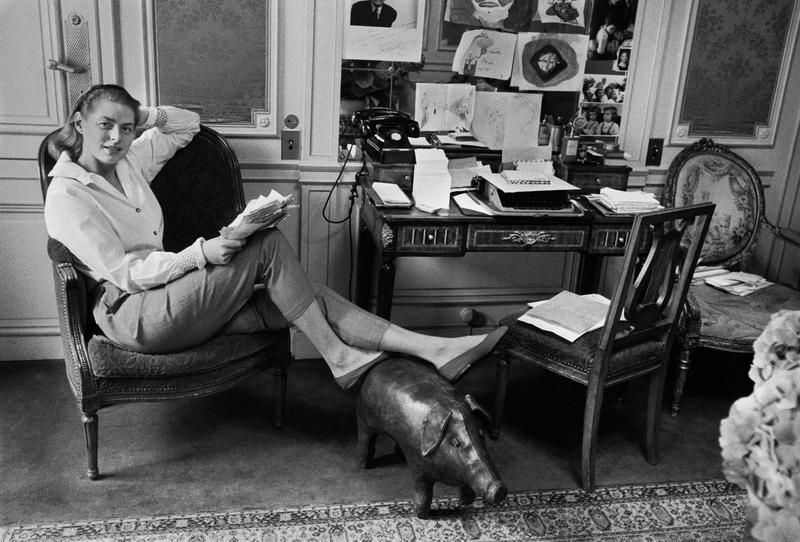 PARIS ARKIV 1957. SkÂdespelerskan Ingrid Bergman fotograferad i Paris 1957. Foto: Lennart Nilsson / SCANPIX / Kod: 3054